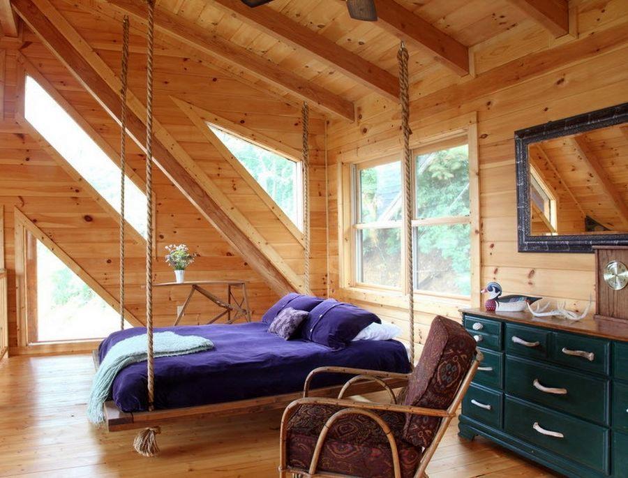 подвесная кровать потолочный вид крепления