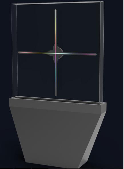 Голографическое вентилятор в защитном колпаке