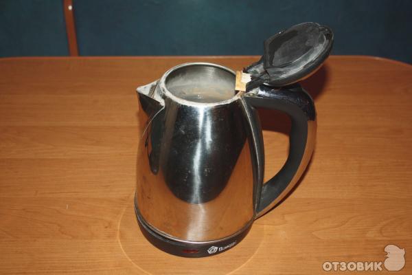 Чайник с открытой крышкой