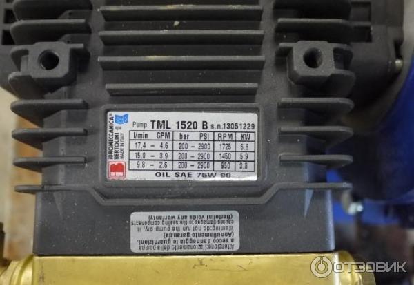 Насос (мойка) высокогго давления TML 1520 B фото