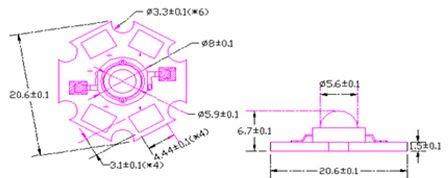 Высокой мощности анти-уф 50 Вт из светодиодов 395-400nm