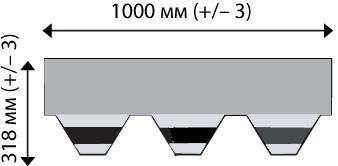 Гибкая черепица IKO: хекс