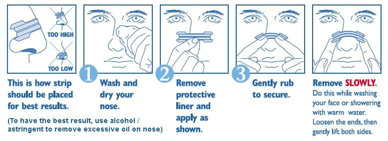 Как применять носовые полоски
