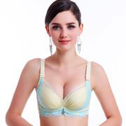 好情感春夏新款内衣 性感荷叶蕾丝文胸聚拢调整型侧收小胸罩四排