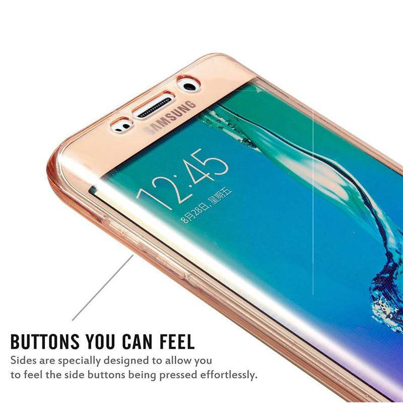 360° Двухсторонний защитный чехол для Samsung Galaxy S7 Edge из  термопластичного полиуретана