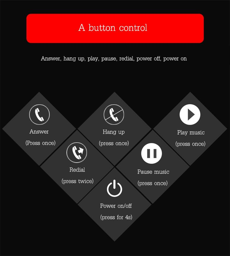 USAMSMiniMulti-pointБатареяДисплейWireless Bluetooth Наушник Наушники с микрофоном