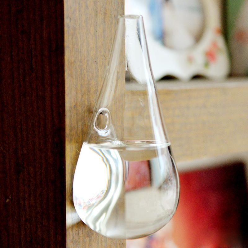 капли воды форма стеклянная ваза