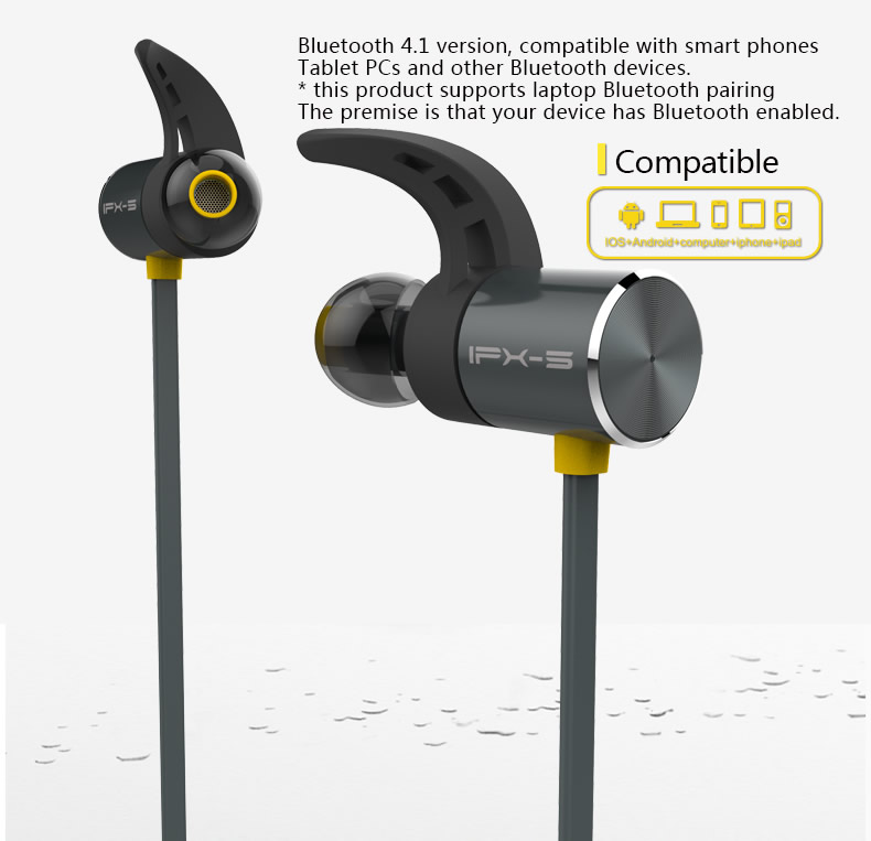 PLEXTONE BX343 Sport Waterproof Magnetic Wireless Bluetooth Earphone With Mic