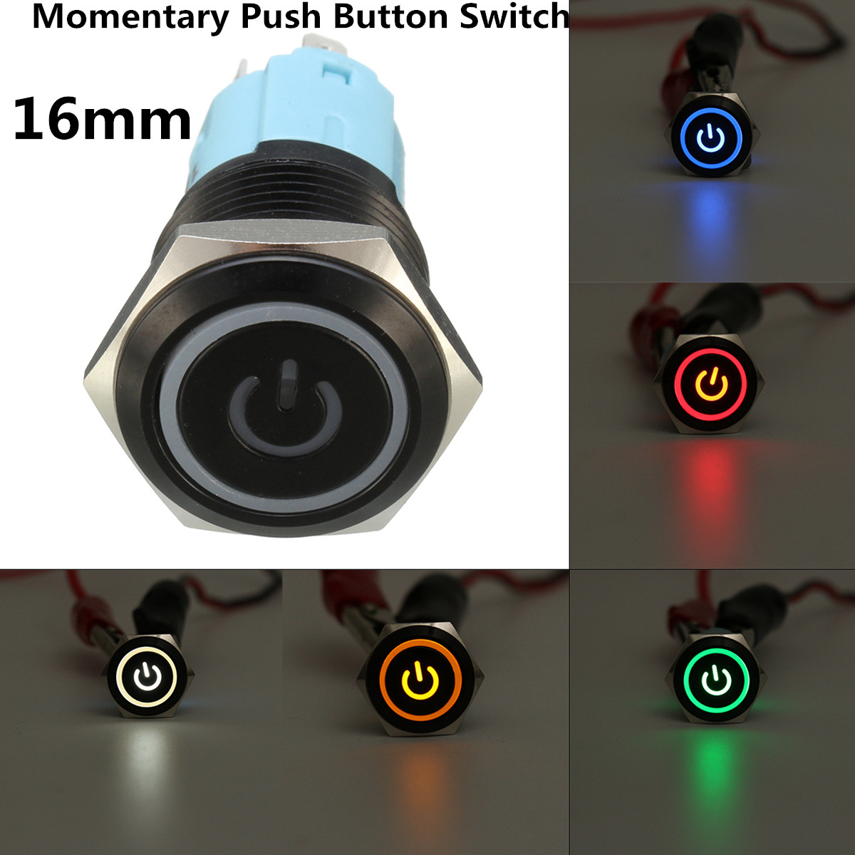 16mm Momentary LED Button Switch