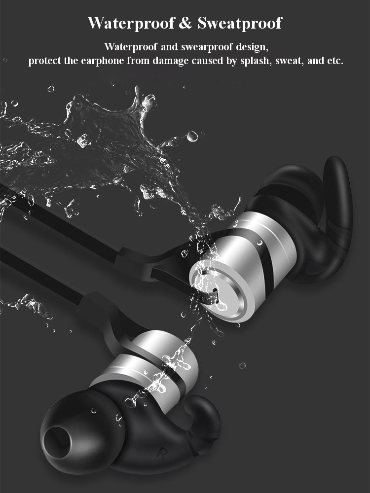 D9 В ухе Sport Водонепроницаемы Sweatproof Magnetic Absorption Voice Prompt V4.1 Bluetooth Earphone