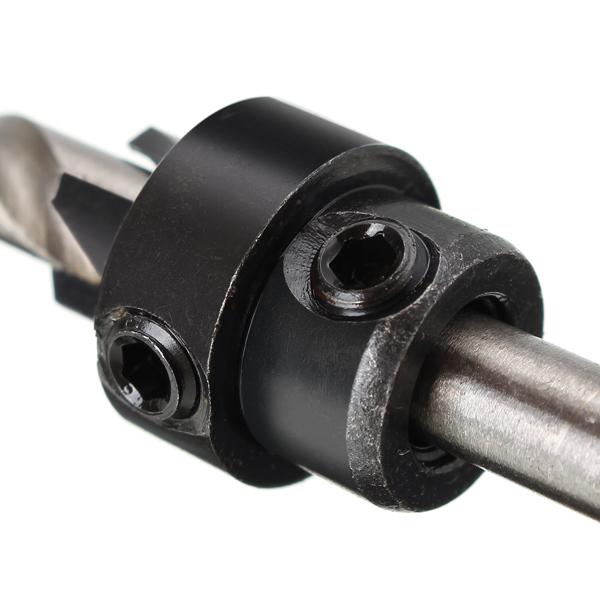 7PCS HSS 3.18mm-5.56 зенковка Сверло деревообрабатывающий инструмент