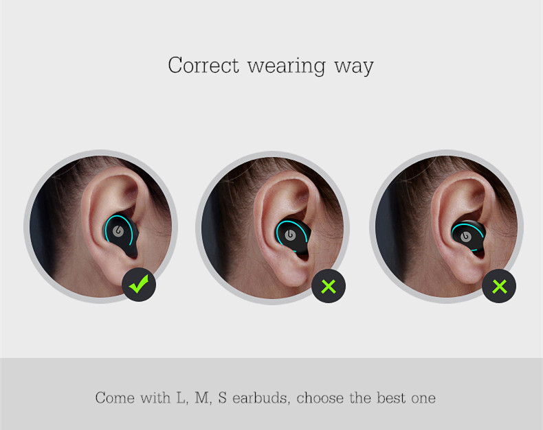 [Truly Wireless] Super Mini Lightweight Dual Bluetooth Earphones Headphones With Зарядка Коробка