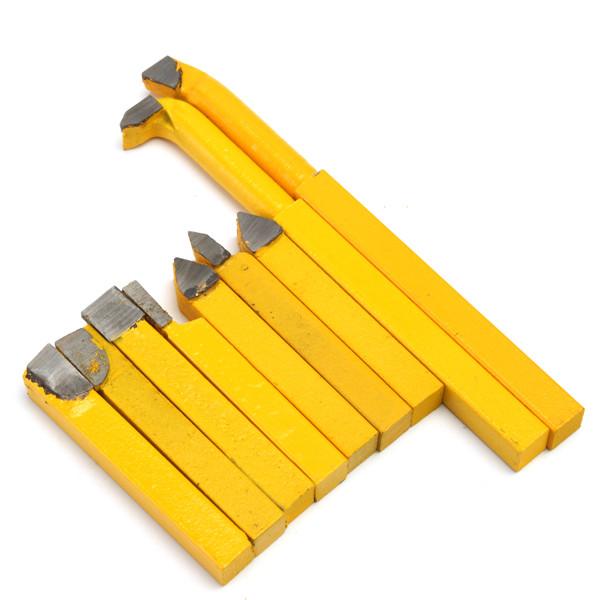 9шт 8x8 мм YW1 Карбид токарный токарный Инструмент Держатель Желтый