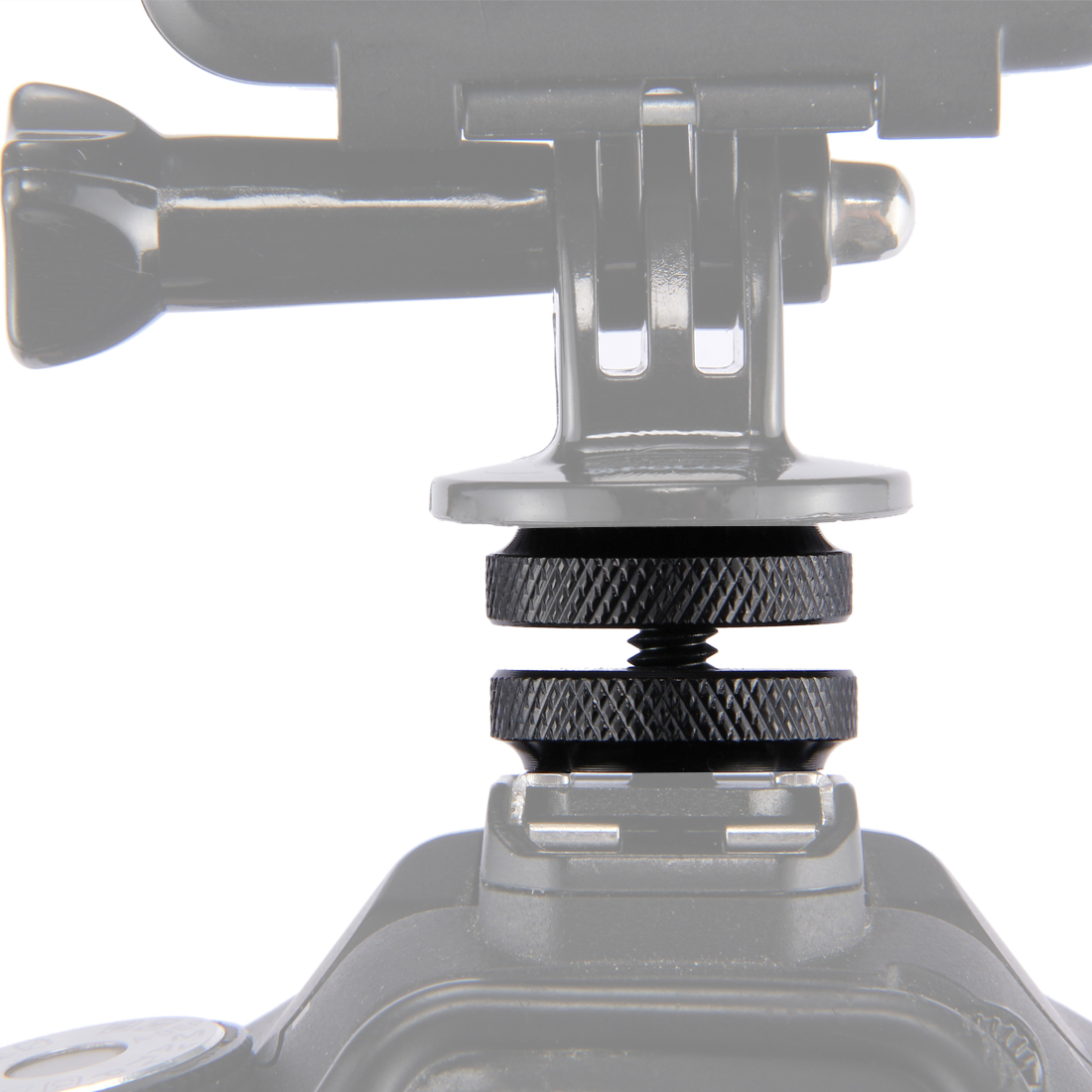 PULUZ Reinforced Hot Shoe 1/4 inch Screw Adapter with Double Nut for DSLR Cameras, GoPro