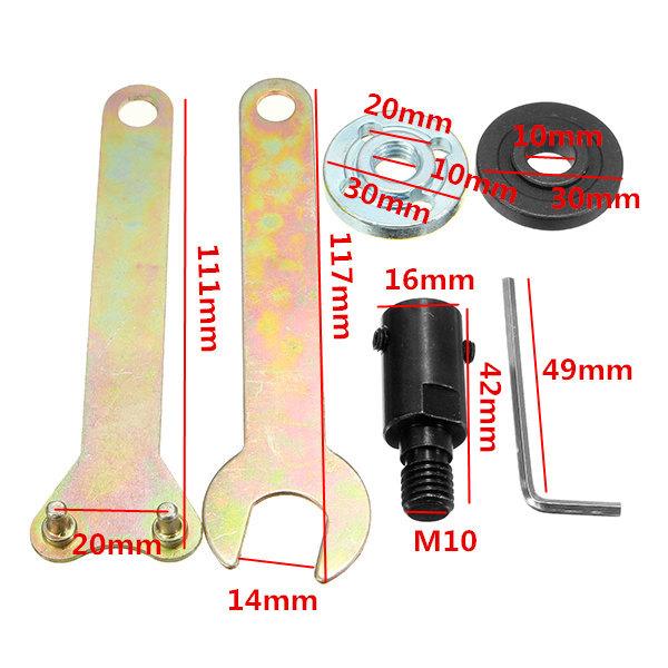 5 мм хвостовик M10 Arbor Оправка для насадки для резцов Аксессуары для угловой шлифовальной машины