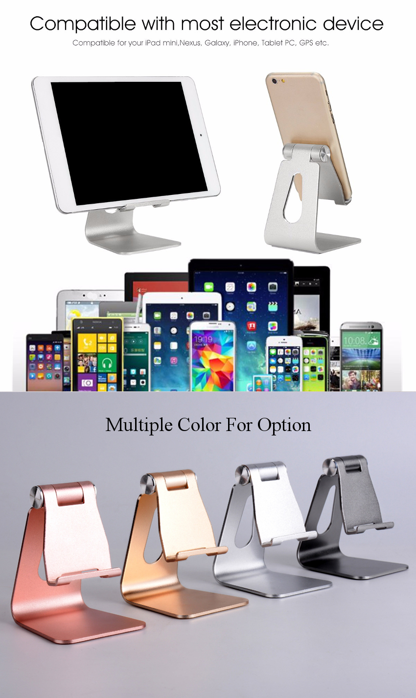 Bakeey™АлюминиевыйсплавРегулируемаяНескользящаяподставкадлянастольных ПК Держатель для зарядки для планшета iPad