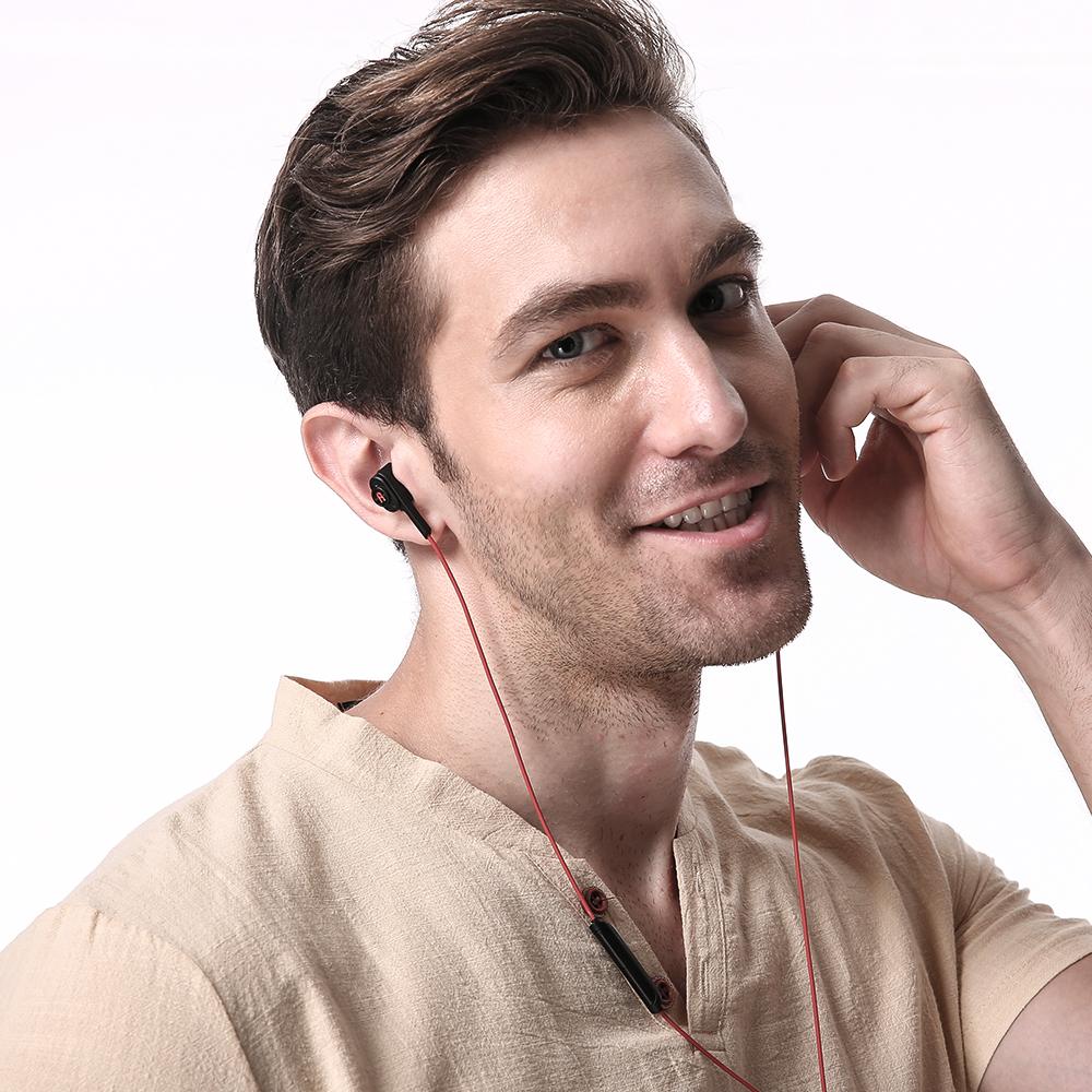 BlitzWolf® BW-ES2 3.5mm Dual Dynamic Driver Earphone Headphone With Mic