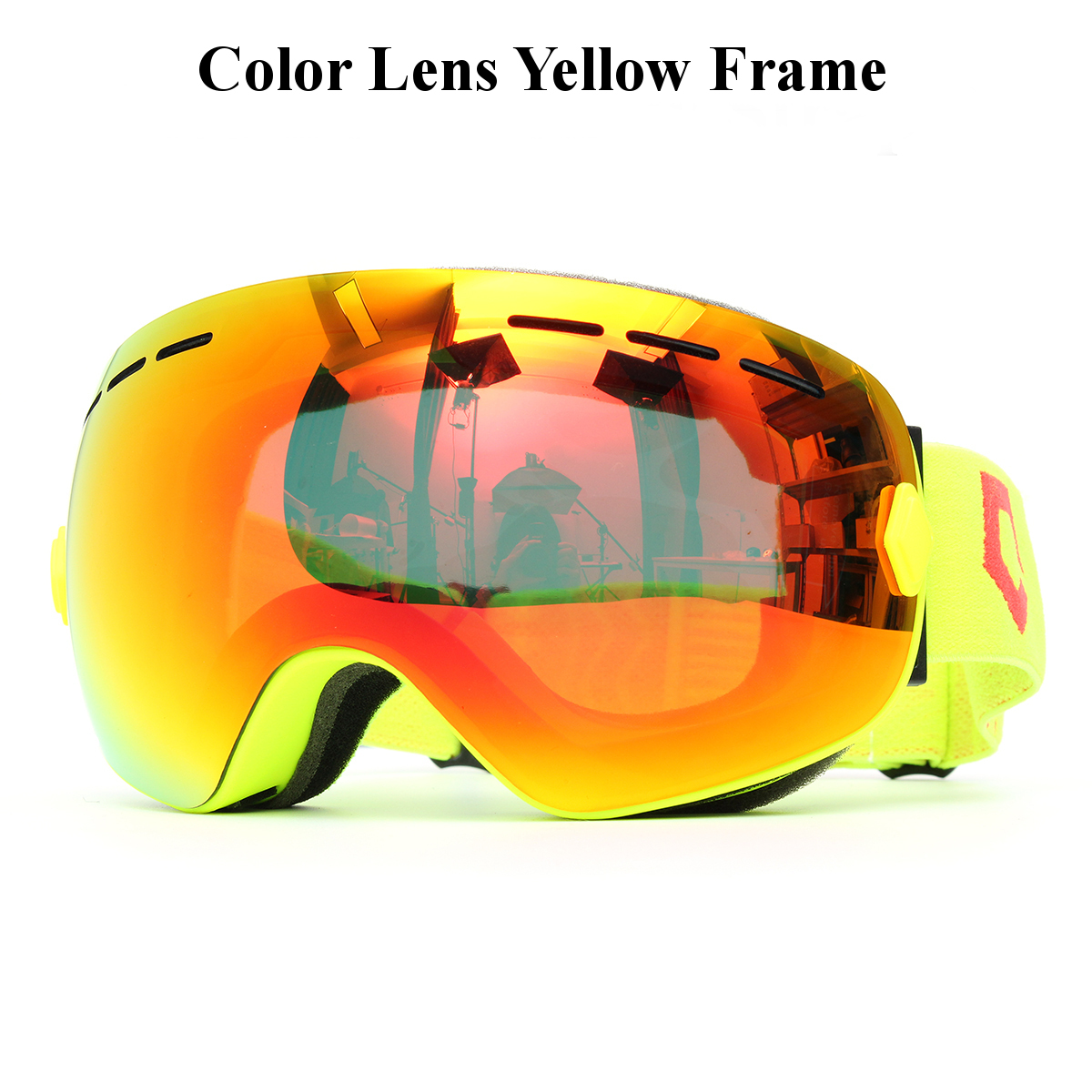 ski goggle yellow frame