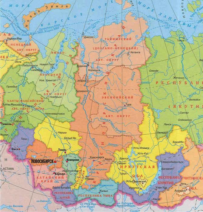 Экономическая карта центральной россии