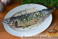 Фото приготовления рецепта: Скумбрия под чесночным соусом (в мультиварке) - шаг №7