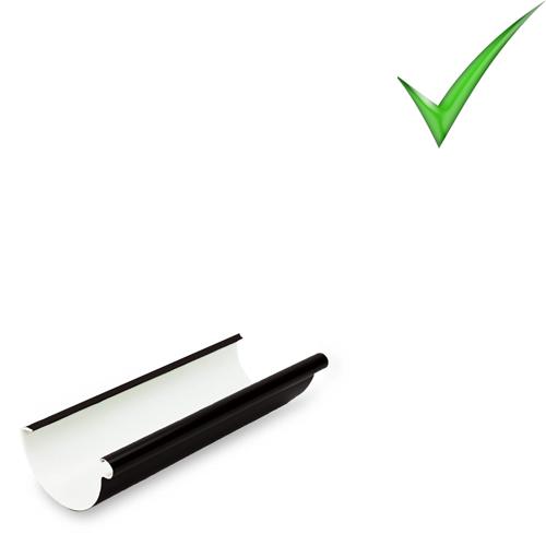 Водосточная система Galeco PVC 110 мм RAL 9005 Черный