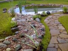использование разного размера камней в ландшафтном дизайне