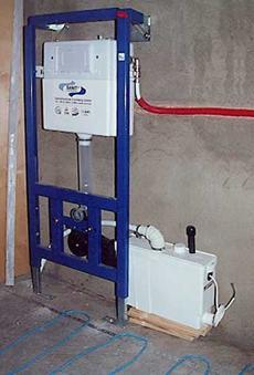 Оборудование для монтажа унитаза к любым стенам
