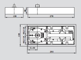 Схема дверного доводчика DORMA BTS 65