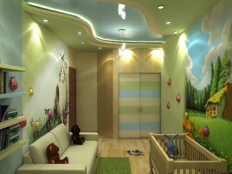 Какой потолок должен быть в детской комнате?
