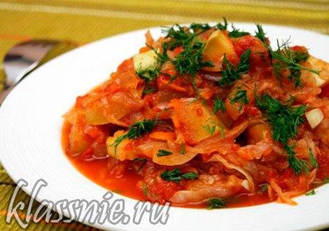 овощное рагу с капустой и картошкой