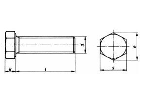 Картинки по запросу Болты латунные шестигранные  DIN 933