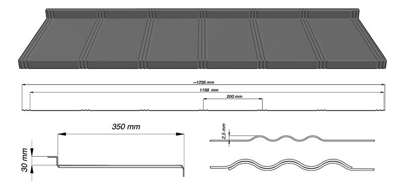 Модульная металлочерепица tysenia