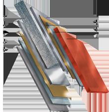 Структура листа металлочерепицы