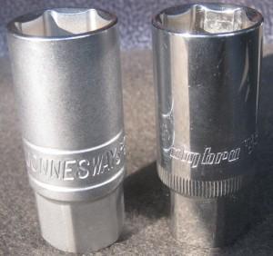 свечные головки из набора инструментов Jonnesway и Ombra