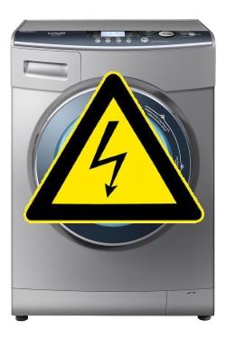 стиральная машина бьется током
