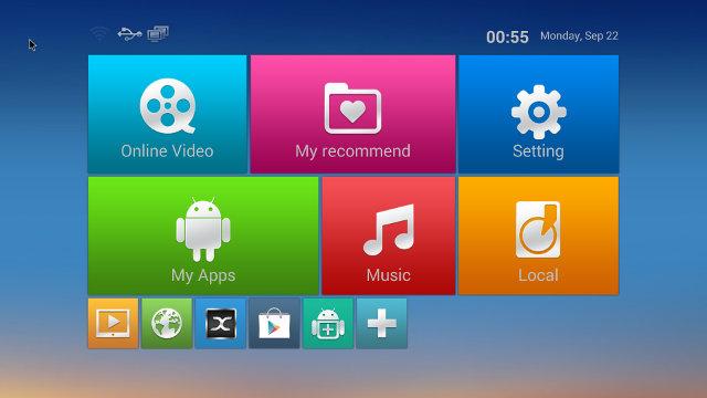 Android TV Box MXQ s805 - интерфейс