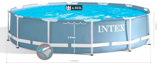 Купить каркасный бассейн Intex 28712