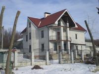 Фасад загородного дома до отделки