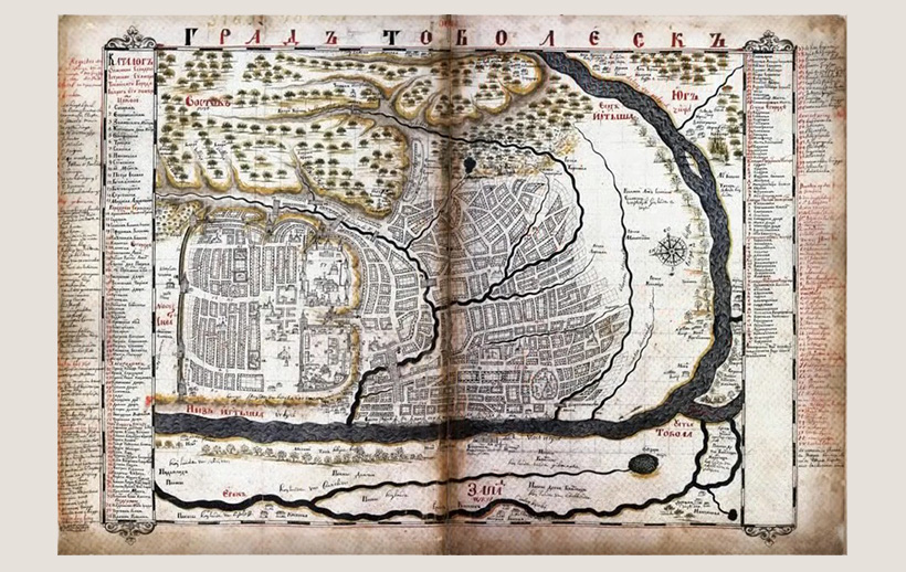 Карта Тобольска