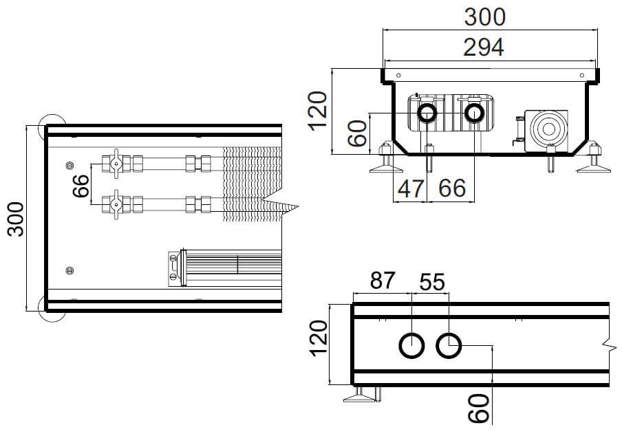 konvektory polvax prinuditelnoi konvekcii s 1 im teploobmennikom 300x120mm plusrazmery