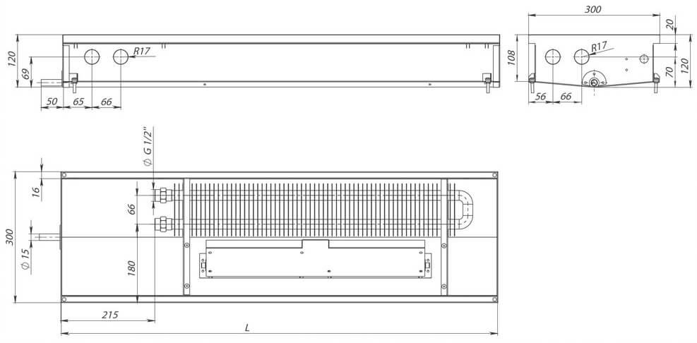 konvektory carrera cv hydro 120 prinuditelnaya konvekciya odin teploobmennik 300x120mm s drenagnym otverstiemrazmery