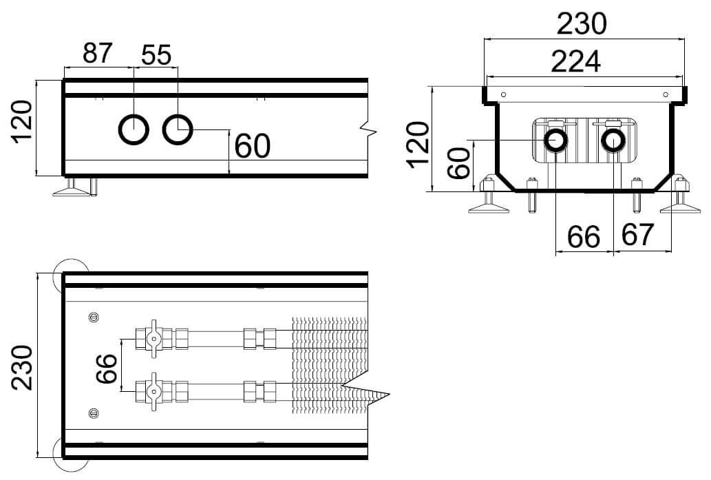 konvektory polvax estestvennoi konvekcii s 1 im teploobmennikom 230x120mmrazmery