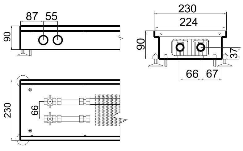 konvektory polvax estestvennoi konvekcii s 1 im teploobmennikom 230x90mmrazmery