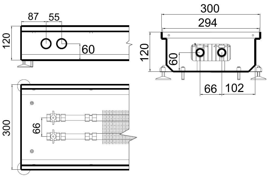 konvektory polvax estestvennoi konvekcii s 1 im teploobmennikom 300x120mmrazmery