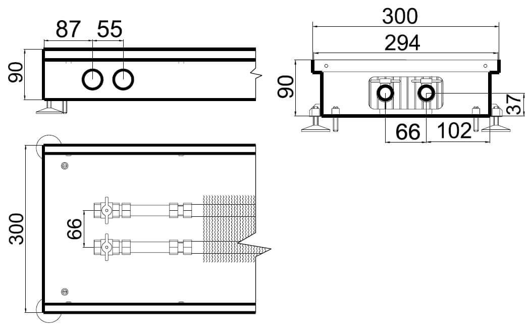 konvektory polvax estestvennoi konvekcii s 1 im teploobmennikom 300x90mmrazmery
