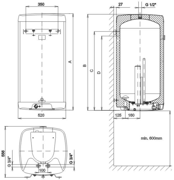 boiler elektricheskii okherazmery