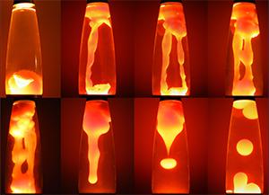 Стадии разогрева лава-лампы