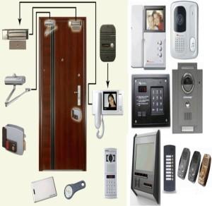 Монтаж и схема подключения замка к видеодомофону
