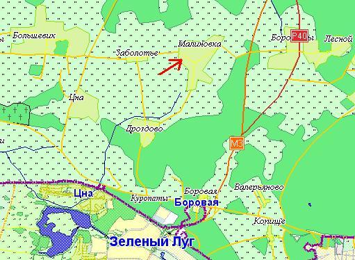 Карта проезда к СЦ SPI в Малиновке