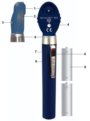 Конструкция офтальмоскопа Piccolight